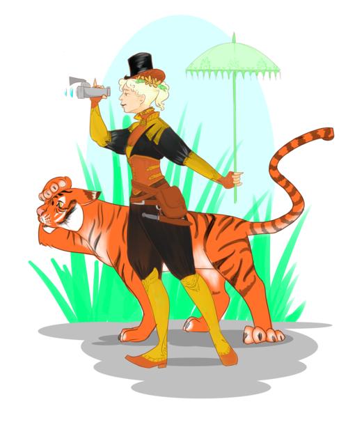 Digital illustration of a Steampunk Lady explorer